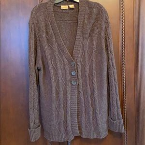 Cozy button up sweater